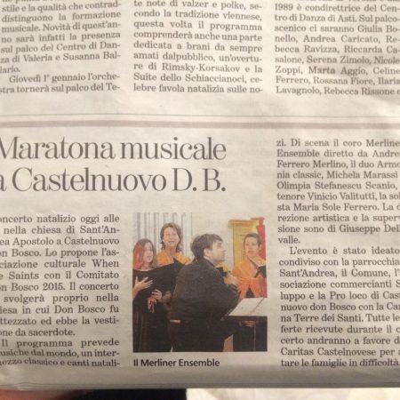 Dicembre 2013, Torino
