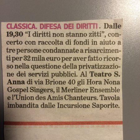 Novembre 2013, Torino