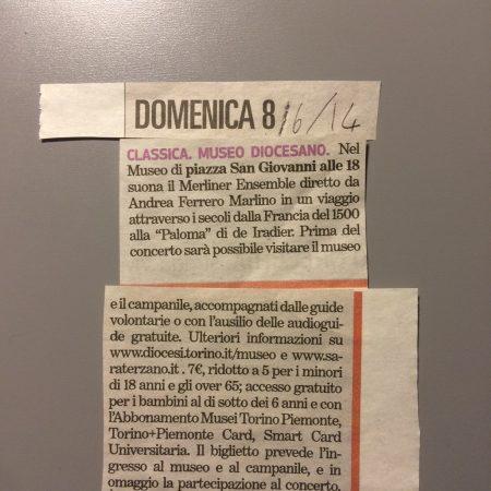 Giugno 2013, Torino